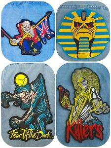 Iron Maiden killers fear dark embroidered back patch heavy metal judas priest