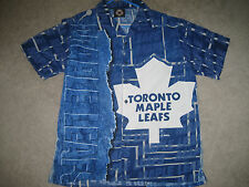 TORONTO MAPLE LEAFS VINTAGE STYLE HAWAIIAN SHIRT CLASSIC LEAFS GEAR SZ:MEDIUM