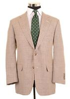 Brooks Brothers 1818 Madison USA Made Silk Linen Wool Houndstooth Sport Coat 40