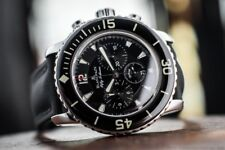 Men's SS BLANCPAIN Fifty Fathoms Flyback Chronograph Automatic Watch / Box & Pap