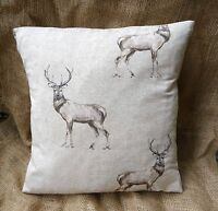 "Fryetts Glencoe Stag Deer  Cotton Fabric Cushion Cover 16"" x 16"""
