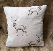 "Fryetts Glencoe Stag Deer  Cotton Fabric Cushion Cover 16"" x 16"""