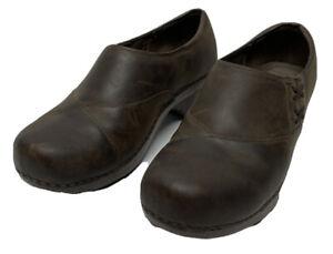 Dansko Professional Stapled Brown Leather Clogs US 9, EU 40