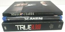 (Lot of 3 blue-rays) X-Men/House of cards season 4/True Blood 4 Free Shipping