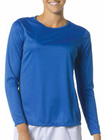 A4 Women's Performance Wicking Long Sleeve Cooling Crewneck T-Shirt. NW3002