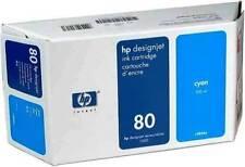 GENUINE HEWLETT PACKARD HP 80 CYAN INK CARTRIDGE 350ML C4864A