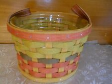 New Longaberger Fall Basket, Leather Handles, Protector, Fall Colors 2016