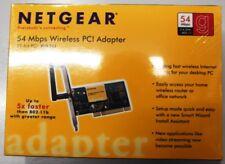 New Netgear 54 mbps Wireless 32 Bit PCI Adapter WG 311 New in Sealed Box