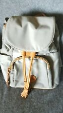 Dooney and bourke Backpack Gray Nylon With Tan Leather Trim  Excellent used...