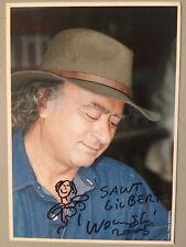 Autographe original Et Dessin Carte dédicacée Georges Wolinski