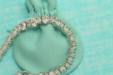 Womens 14K White Gold Finish 5.5 CT Diamond S Link Tennis Bracelet 7 Inches