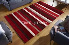 Tapis rouge à motif Rayé modernes pour la maison