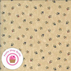 Moda BITTERSWEET LANE 9644 11 Tan Beige Floral KANSAS TROUBLES Quilt Fabric