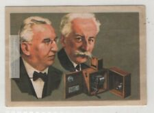 Lumiere Brothers French Inventors And Pioneer Film Makers  Vintage Ad Trade Card