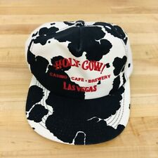 Holy Cow Vintage Snapback Hat Las Vegas Casino Cafe Brewery Rare Collectible