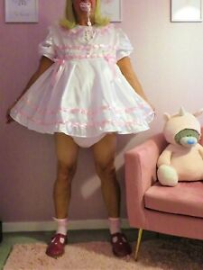 Sissy/Adult Baby Satin Party  Dress set From Nanny
