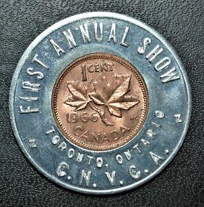 1966 First Annual CNVCA Show, Toronto, Encased Lucky Penny