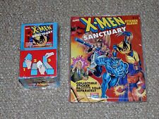 1996 Panini Fleer Skybox X-Men Sanctuary Sealed Card Box & Books Lot