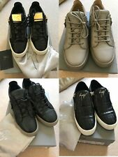 Mens Guiseppe Zanotti Trainers Runners Size 10 UK Leather Zip Up RRP£799