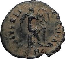 Aelia flacilla Teodosio I esposa 383AD antigua moneda romana victoria Chi-rho i67708