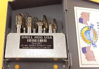 Double Cut Carbide Rotary Burr Set Tungsten Burrs Drill Hog® Lifetime Warranty