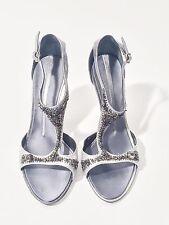 Franklin Elman Size 10/40 Ladies Grey Open Toe Heels