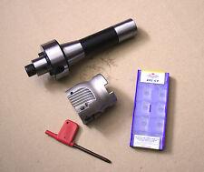 R8 FMB22 Arbor + 400R 50MM Face Mill + 10pcs APMT1604 Inserts + Wrench Set