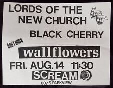 LORDS OF THE NEW CHURCH Original Concert Flyer 1987 LA Dead Boys Punk Goth GLAM