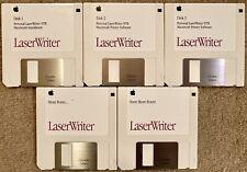 Very Rare! Apple LaserWriter NTR Complete Software & Fonts - 5 Disk Set-1992 Mac