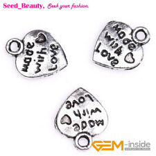50x Cute Alloy Metal Heart Charms for Craft Jewelry Making 13mmx16mm