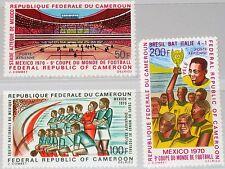 CAMEROUN KAMERUN 1970 622-24 C150-52 Soccer CS Mexico Fußball WM Football MNH