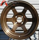 2PC 15X9 +0 2PC 15X9 -15 ROTA GRID-V 4X114.3 FULL ROYAL SPORT BRONZE WHEEL RIMS