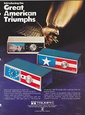 1975 TRIUMPH clock radio catalog