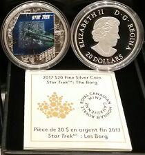 2017 Star Trek The Borg Canada $20 1OZ Pure Silver Proof Coloured Coin