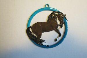 """Bemalte Zinnfigur """"Chinesisches Horoskop Pferd"""" Hängefigur"""