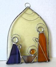 New!~Nativity Leaded Stained Glass Suncatcher~8.5 long x 4.5 wide