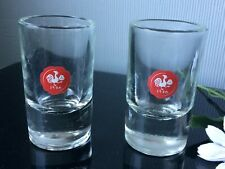 Vintage Ritzenhoff Small Short Glasses Set Of 2 Heavy Base 50ml Clear Thick Cups