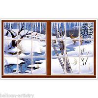 Christmas Window Scene Setter Add-on Prop - WINTER LANDSCAPE