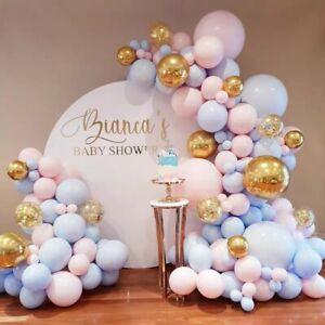 Pastel Macaron Balloon Garland Arch Kit Baby Shower for Boy Girl Birthday Party