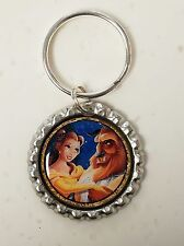 Disney 2017 BEAUTY AND THE BEAST *  Bottle Cap with Keyring