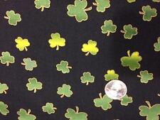 ST. PATRICK'S CLOVER cotton quilting fabric BTY shamrock GREEN sewing QUILT sew