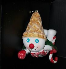 NEW 2015 Mr Bingle Snowman Resin Christmas Ornament Collectible New Orleans Icon