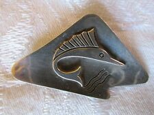 Vintage Sterling Silver Taxco Mexico Fish Swordfish Brooch Pin Mexican Silver