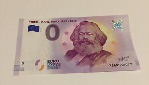 Karl Marx 1818 Currency  €0 Euro Bank Note Gift Communism Christmas Xmas Gift UK