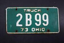 1973 Vintage Original OHIO License Plate 2B-99 TRUCK