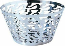 Alessi - SG28 - Ethno, Round basket - in 18/10 stainless steel mirror polished.