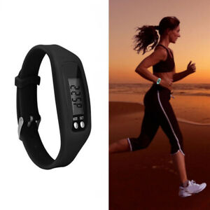 LCD Digital Pedometer Running Step Counter Watch Bracelet Wristband Gym Fitness