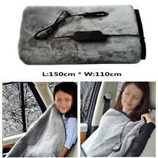 12V Electric Heated Car Truck Flannel Cosy Warm Winter Blanket Cover Heater