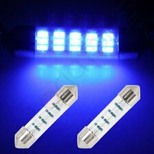 2X Blue 1.53 inch/39mm 15SMD-3014 Car Interior Festoon LED Lights For Dome Map