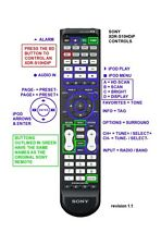Sony XDR-S10HDiP replacement IR remote